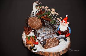Фотографии Праздники Новый год Сладости Торты Пища
