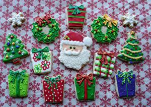 Обои Праздники Новый год Выпечка Печенье Дизайн Еда фото