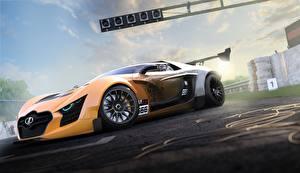 Фото Gran Turismo Лада Сбоку 3D Графика Автомобили Игры