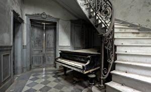 Обои Музыкальные инструменты Фортепиано Лестница
