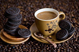 Обои Выпечка Печенье Напитки Кофе Чашка Ложка Еда фото