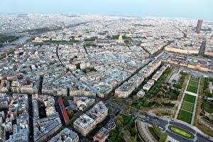 Картинки Франция Париже Мегаполис Сверху город