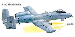Фото Самолеты Рисованные A-10 Thunderbolt II Штурмовики Авиация