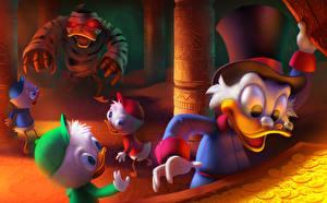 Картинка Дисней Утиные истории Шляпе Scrooge McDuck, Huey, Dewey, and Louie Мультфильмы