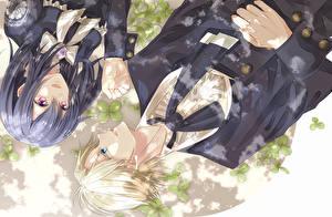 Картинки Двое Униформа Парень kaichou wa maid sama, ayuzawa misaki, usui takumi Аниме Девушки
