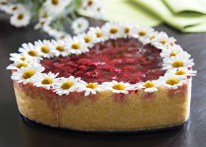 Фотография Сладкая еда Торты День святого Валентина Сердечко Пища