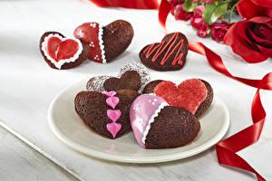 Фотография Праздники Выпечка Печенье День святого Валентина Сердце