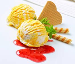 Картинка Сладости Мороженое Повидло Печенье Еда