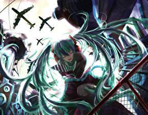 Обои Vocaloid Hatsune Miku Волосы Аниме Девушки
