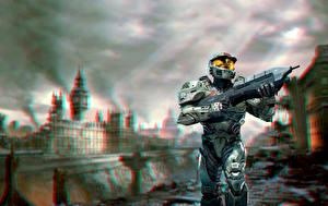 Фотография Halo Доспехи В шлеме Лондон Игры 3D_Графика Города