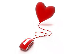 Картинка Праздники Компьютерная мышь День святого Валентина Сердца