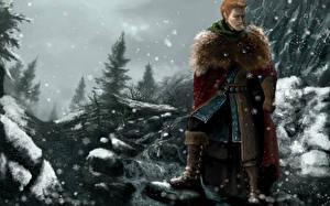 Обои Dragon Age Воители Мужчины Игры Фэнтези