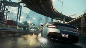 Картинки Need for Speed Need for Speed Most Wanted Мосты Асфальта компьютерная игра Автомобили 3D_Графика