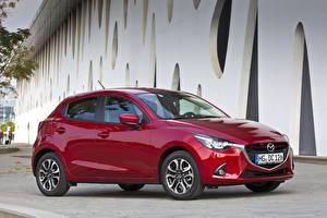 Картинка Mazda Бордовый Металлик 2014 Mazda 2 Автомобили