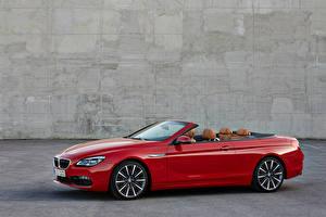 Картинка BMW Бордовый Кабриолет Металлик 2015 M6 Автомобили