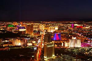 Картинка Штаты Дома Лас-Вегас Ночные