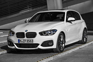 Картинка BMW Белые 2015 125i M sport авто