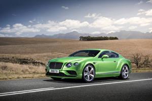 Картинка Bentley Салатовая Металлик Роскошная 2015 Continental GT Speed авто