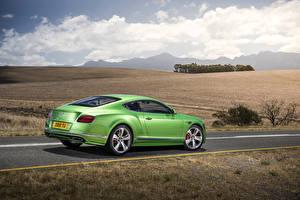 Обои Bentley Салатовый Металлик Люксовые 2015 Continental GT Speed автомобиль