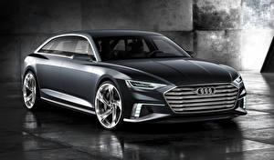 Обои Audi Серая Металлик Универсал 2015 Avant