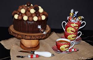 Фотографии Сладости Торты Шоколад Кофе Чашка Пища