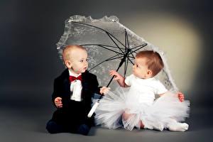 Картинка 2 Мальчики Девочки Зонт Костюм Платье Дети