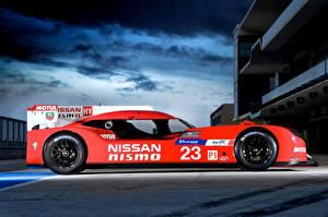 Фото Nissan Тюнинг Красная Сбоку 2015 GT-R Le Mans Nismo Автомобили