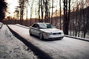Обои Ауди Дороги Снег Автомобили