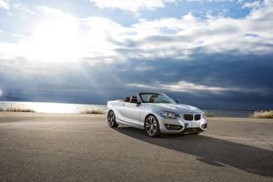 Фотографии BMW Небо Белых Кабриолета Металлик 2015 228i F23 convertible машины