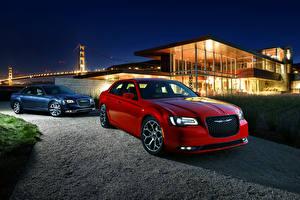 Обои Chrysler 2 Бордовый Металлик 2015 300 C машины