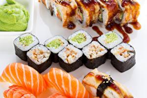 Обои Морепродукты Суши Рыба Еда фото