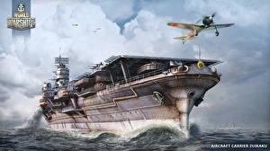 Фотография World Of Warship Авианосец Корабли Японские Aircraft Carrier Zuikaku Игры