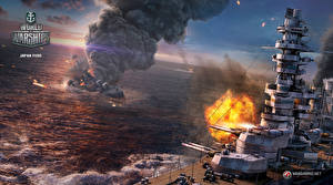 Картинки World Of Warship Корабли Японские Japan Fuso Игры