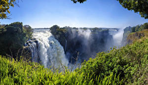 Обои Водопады Пейзаж Victoria Falls Zimbabwe Природа