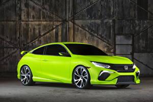 Фотография Хонда Салатовый Металлик 2015 Civic машина