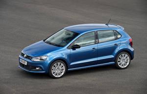 Обои Volkswagen Голубая Металлик 2015 Polo BlueGT Автомобили