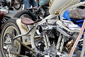 Обои Кастомайзинг Крупным планом Мотоциклы фото
