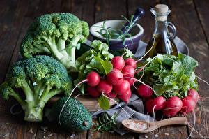 Фото Овощи Капуста Брокколи Редис