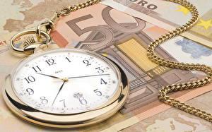 Обои Часы Карманные часы Крупным планом