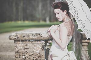 Фотография Зонт Невеста Laura Vintage Wedding Девушки