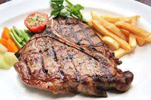 Картинка Мясные продукты Картофель фри Овощи