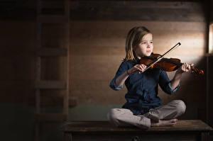 Картинка Скрипки Девочки Дети