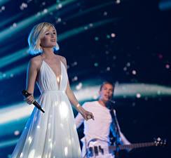 Фото Полина Гагарина Сергеевна Блондинка Платья Eurovision 2015 Знаменитости Девушки Музыка
