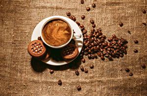 Обои Кофе Печенье Напитки Зерна Еда