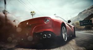 Картинка Need for Speed Феррари Вид сзади Красный Rivals Автомобили