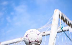 Картинка Футбол Небо Мяч Белых Спортивная сетка