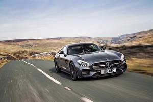 Картинки Mercedes-Benz Стайлинг Серый Металлик 2015 AMG GT S Edition 1 Машины