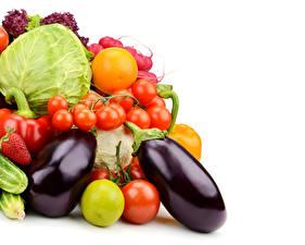 Картинки Овощи Помидоры Капуста Пища