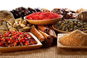 Картинка Специи Много Вблизи Корица Продукты питания