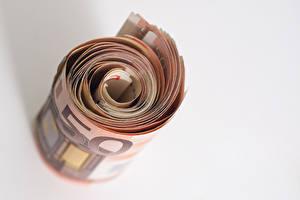 Фотография Деньги Банкноты Евро Крупным планом 50